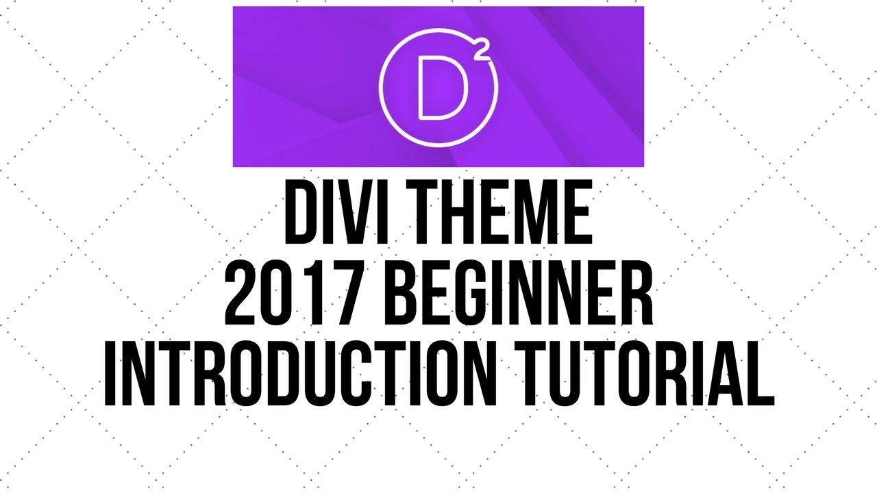 Divi wordpress theme 2017 beginner introduction tutorial - Divi elegant theme ...