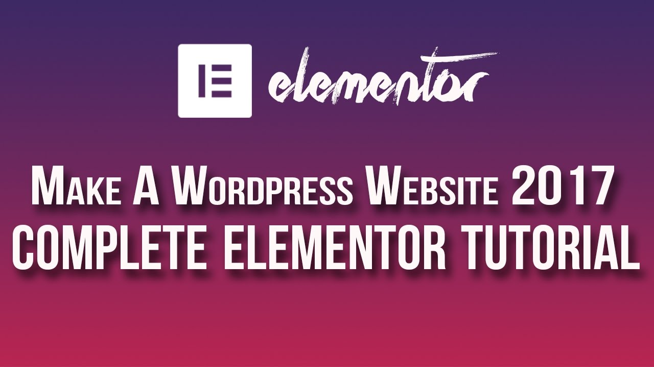 Elementor Page Builder Tutorial - How To Create A